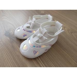 Hófehér, gyöngyház betétes kislány cipő - díszdobozban (19)