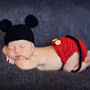 Mickey egér szett babafotózásra (0-6 hó)