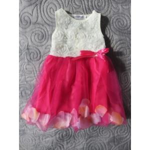 Fehér-ciklámen kislány ruha (92)