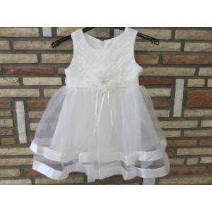 Elegáns hófehér kislány keresztelő ruha (68-74)