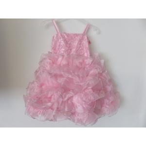 Rózsaszín gyönyörű, habos-babos kislány ruha