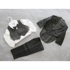 Kisfiú alkalmi szmoking, fekete (92-98)