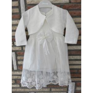 Törtfehér kislány keresztelő/alkalmi ruha boleróval