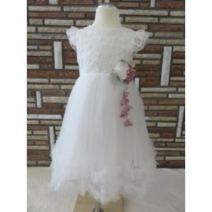 Gyönyörű, hófehér alkalmi/keresztelő kislány ruha