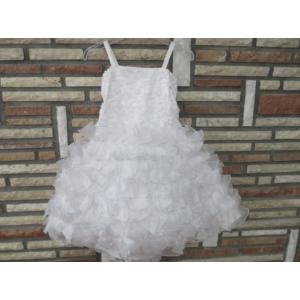 Hófehér, gyönyörű, habos-babos kislány alkalmi ruha (92)