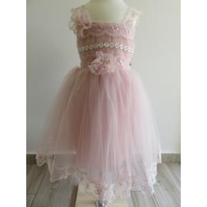 Különleges mályva színű, alkalmi kislány ruha