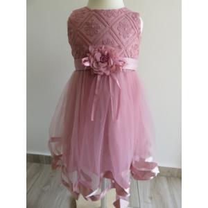 Elegáns mályva színű kislány ruha