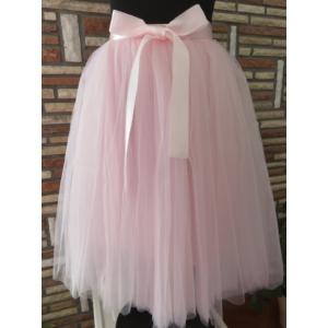 Elegáns női tüll szoknya - rózsaszín (egyméretes)