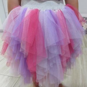 Többszínű kislány tüll szoknya - lila