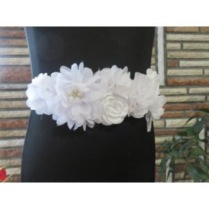 Hófehér menyasszonyi öv vagy babaváró öv