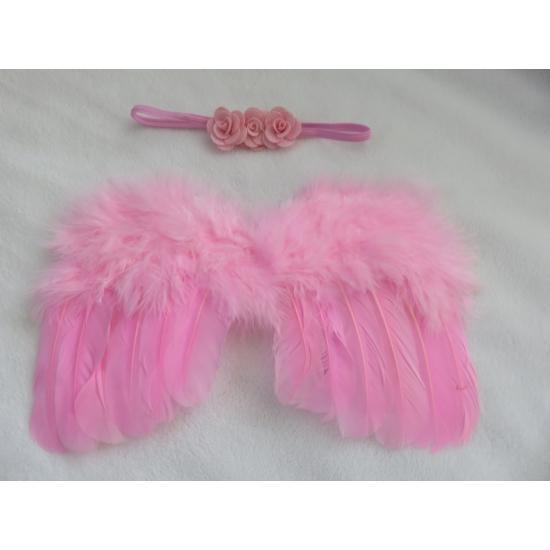 Rózsaszín angyalszárny fejpánttal