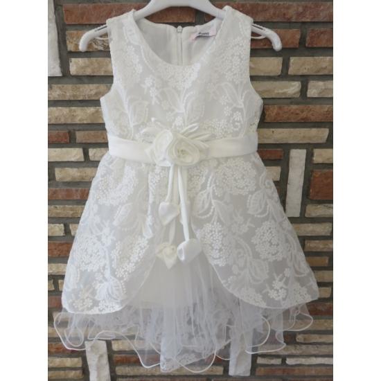 Hófehér alkalmi kislány ruha (116)