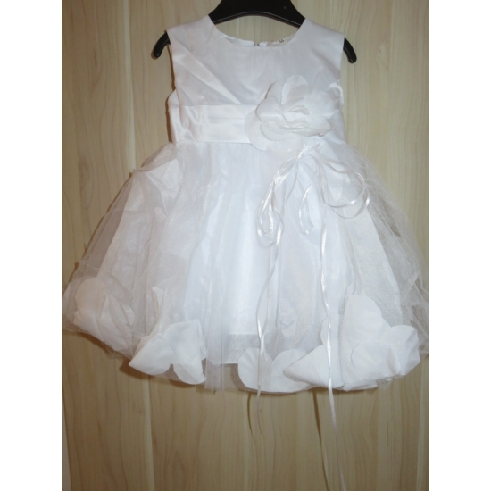 Hófehér kislány keresztelő ruha (80)