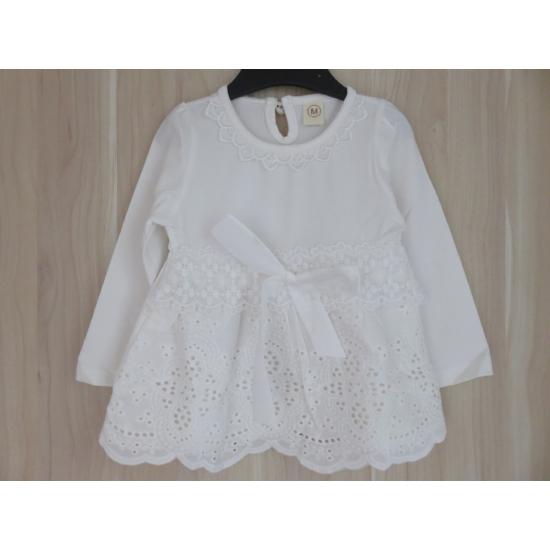 Hófehér keresztelő kislány ruha (80-86)