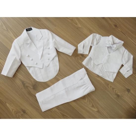 Kisfiú keresztelő/alkalmi ruha, szmoking, fehér (86)