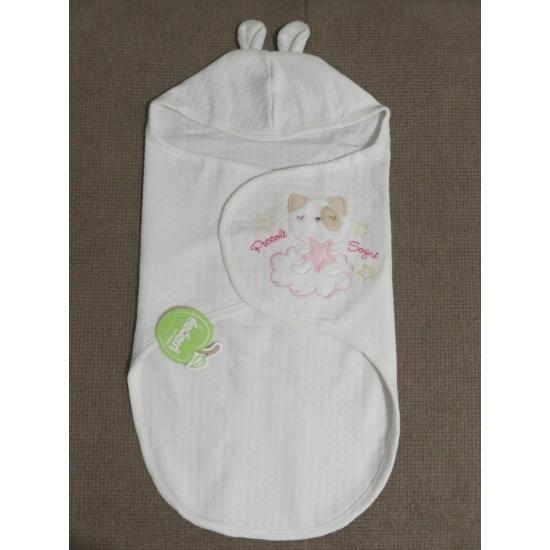 Fehér-rózsaszín Bebessi pólyazsák (0-3 hó)