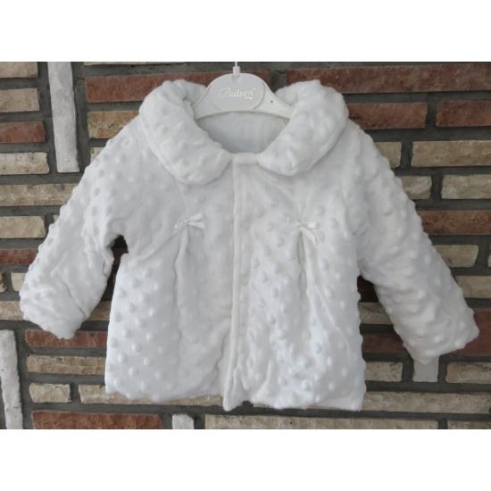 Hófehér keresztelő/alkalmi kislány kabát - minky