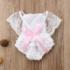 Fehér fodros csipke body babafotózásra (62-68)