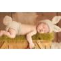 Kép 1/3 - Unisex nyuszis szett babafotózásra (0-6 hó)