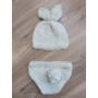 Kép 3/3 - Unisex nyuszis szett babafotózásra (0-6 hó)