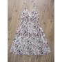 Kép 3/6 - Pántos, virágmintás női pamut ruha - fehér (one size)