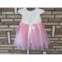Kép 2/4 - Hófehér-rózsaszín tüll kislány ruha (62)