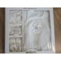 Kép 7/7 - Hófehér alkalmi szett hajpánttal, kiscipővel, bodyval - kővel (56-68)