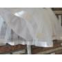 Kép 4/4 - Fehér kislány keresztelő ruha virágdísszel (62)