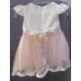 Kép 2/5 - Hófehér-barack színű kislány ruha (68)