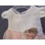 Kép 3/5 - Hófehér-barack színű kislány ruha (68)