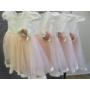Kép 4/5 - Hófehér-barack színű kislány ruha (68)