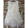 Kép 2/3 - Hófehér alkalmi kislány ruha (116)