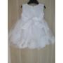 Kép 3/3 - Hófehér kislány keresztelő ruha (80)