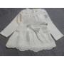 Kép 3/4 - Hófehér keresztelő kislány ruha (80-86)