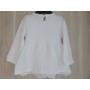 Kép 4/4 - Hófehér keresztelő kislány ruha (80-86)
