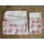 Kép 2/2 - Rózsaszín elefántos szett (babatakaró és 2 db pelenka) - BabooMamoo