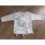Kép 3/8 - 5 részes újszülött kislány babaruha szett - kék, nyuszis (56/62)