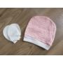Kép 5/8 - 5 részes újszülött kislány babaruha szett - rózsaszín, nyuszis (56/62)