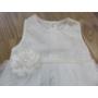 Kép 6/9 - Hófehér kislány keresztelő szett hajpánttal, kiscipővel (56-68)