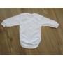 Kép 2/2 - Fehér hosszú ujjú baba body