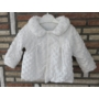 Kép 1/4 - Hófehér keresztelő/alkalmi kislány kabát - minky