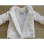 Kép 4/4 - Hófehér keresztelő/alkalmi kislány kabát - minky