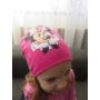 Kép 4/4 - Minnie egér mintás kislány sapka (98/110)
