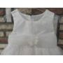 Kép 2/4 - Fehér keresztelő/alkalmi kislány tüll ruha