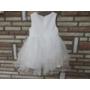 Kép 3/4 - Fehér keresztelő/alkalmi kislány tüll ruha