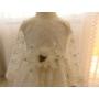 Kép 4/7 - Törtfehér hímzett csipkés hosszú ujjú kislány ruha