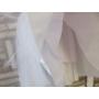 Kép 10/10 - Elegáns hófehér alkalmi/keresztelő kislány tüll ruha
