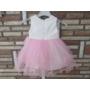 Kép 4/4 - Fehér-rózsaszín keresztelő/alkalmi kislány tüll ruha