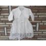 Kép 3/8 - Törtfehér kislány keresztelő/alkalmi ruha boleróval