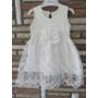 Kép 7/8 - Törtfehér kislány keresztelő/alkalmi ruha boleróval